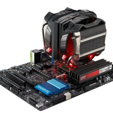 High Performance CPU Cooler with Horizontal Vapor Chamber and 8 Heatpipes