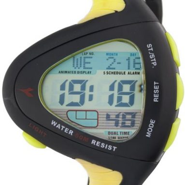 Diadora Men's Digital Triangular Shaped Watch