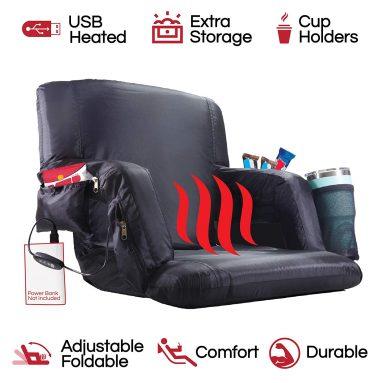 The Hot Seat – Heated Stadium Bleacher Seat