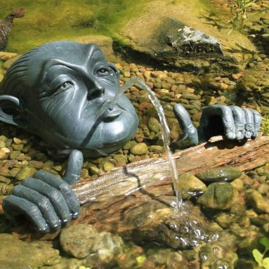 Face and Hands Pond and Garden Water Fountain