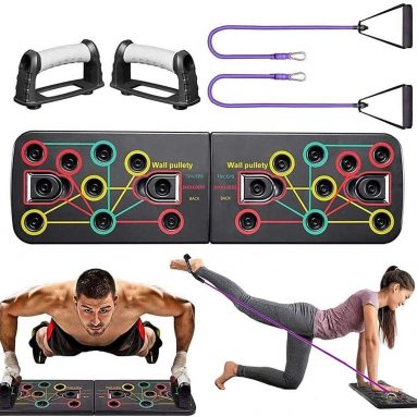 Multi-Function Portable Bracket Board Push Up Training System 13 in 1 Push Up Board with Resistance Bands