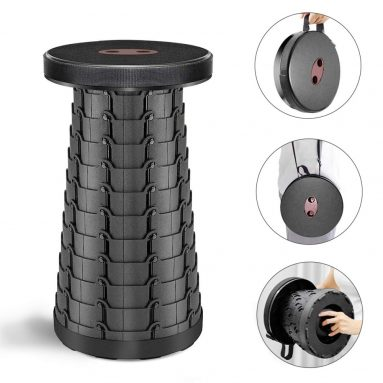 Upgraded Retractable Folding Camping Stool