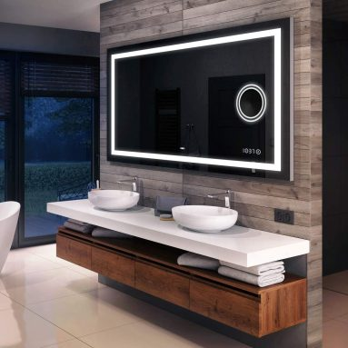 Bathroom LED Lighted Mirror (59 x 31 inch) Illuminated Backlit Vanity Mirror