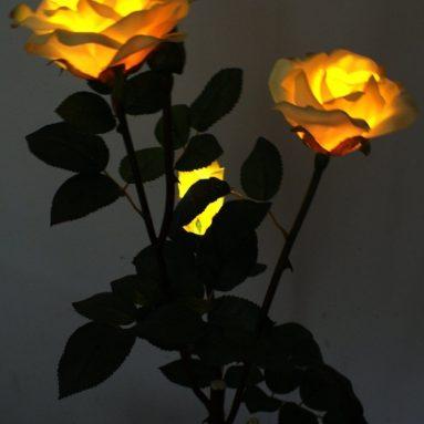 Solar Powered Garden Outdoor Rose Lights