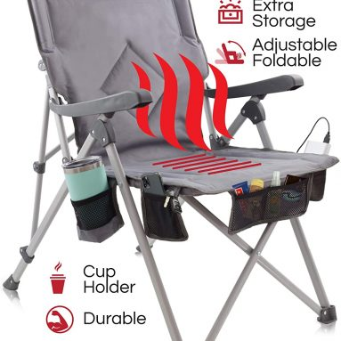 Heated Portable Chair, Perfect for Camping