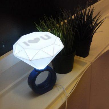 Romantic Diamond Ring Shaped USB Powered LED Desk Lamp