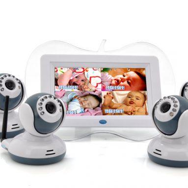 Digital Wireless Baby Monitor + 4x Camera