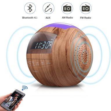 8-in-1 Bluetooth Alarm Clock Radio (Digital) Dual USB Charging Ports