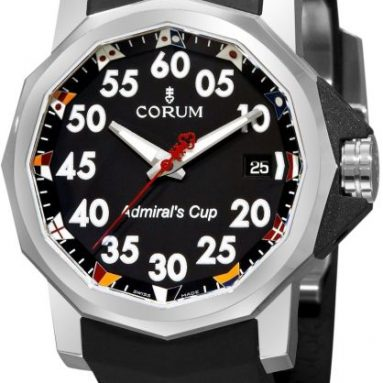 Corum Men's Admirals Cup Competition 40 Black Dial Watch