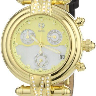 Brillier Women's Klassique Round Stainless Steel Chronograph Watch