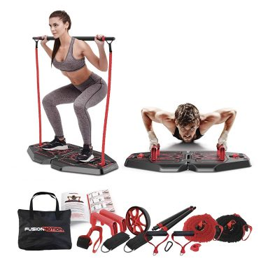 Fusion Motion Portable Gym with 8 Accessories Including Heavy Resistance Bands