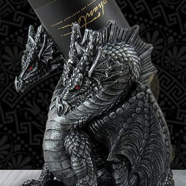 Two-Headed Dragon Wine Display Figure Bottle