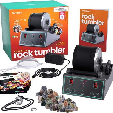 Advanced Professional Rock Tumbler Kit – with Digital 9-day Polishing timer & 3 speed settings