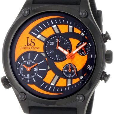 Joshua & Sons Men's Dual Time Quartz Chronograph Watch