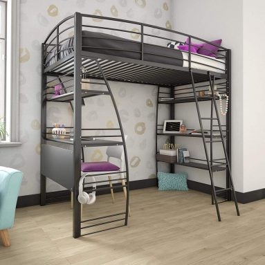 Cyber Monday: DHP Studio Loft Bunk Bed Over Desk and Bookcase