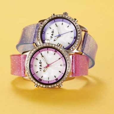 Girls Talking Watches