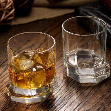 JoyJolt Aqua Vitae Premium Whiskey Glass Set