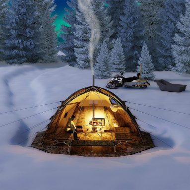 Russian-Bear Hot Tent with Stove Jack