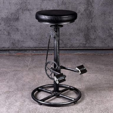 Vintage DIY Bar Stool Bicycle Chain Iron Pedal Retro Industrial
