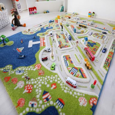 Mini City Thick 3D Kids Play Rug
