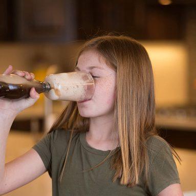 Float Buddy. Soda Float Glass: insert into Bottle, add Ice Cream, Enjoy!