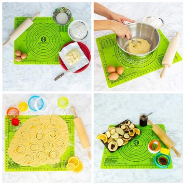 Silicone Baking Mat with Measurements Set