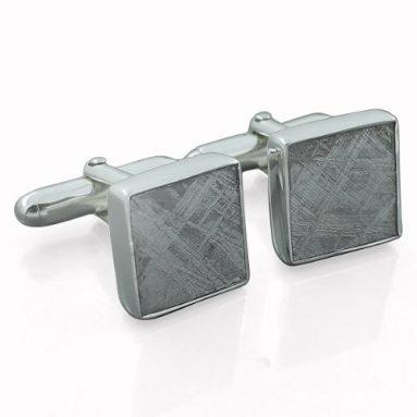 Silver Cufflinks Genuine Meteorite Gibeon