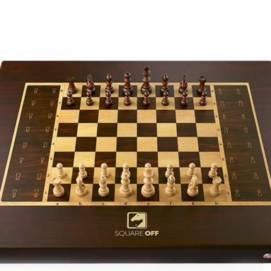 A Smart automated Chess Board, which Moves The opponent's Pieces on its own. Play Against The AI or Anyone Across The Globe.