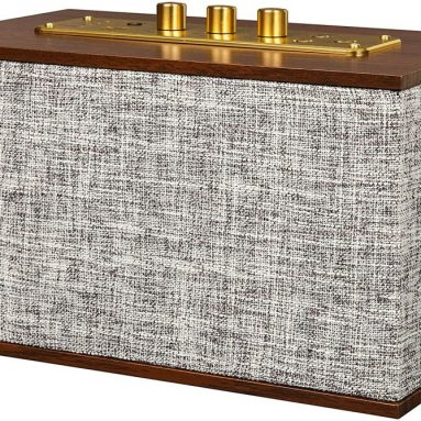 Crosley Octave Mid-Century Bluetooth Speaker with USB Phone Charger