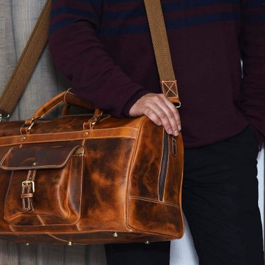 Cyber Monday: Aaron Leather 20 inch Full Grain Leather Weekender Duffle Bag