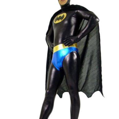 Adult Superhero Batman Zentai Bodysuit Halloween Costume
