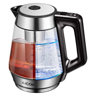 Electric Kettle Glass Tea Kettle Variable Temperature Control Cordless Water Kettle