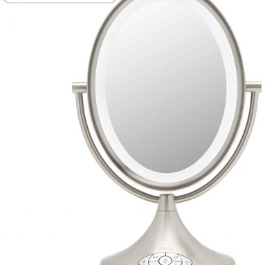 Alexa Enabled Dual Sided Vanity Mirror, Bluetooth Audio, Speakerphone, and USB Charging