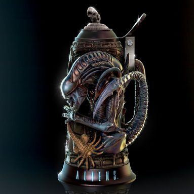 Aliens Four Stages of Fear Collectible Stein with Chest Burster Xenomorph Topper