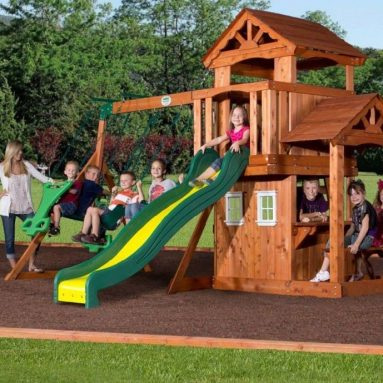 All Cedar Wood Playset Swing Set