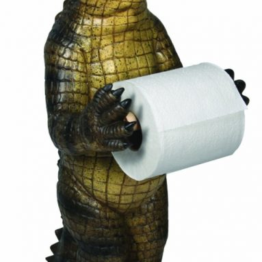 Alligator Standing Toilet Paper Holder