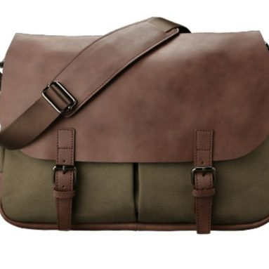 Leather Plateau Messenger Bag
