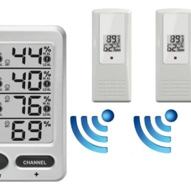 Wireless Indoor Outdoor 8-Channel Thermo-Hygrometer