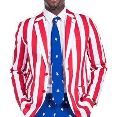 American Flag Suit Blazer and Pants – Patriotic Suit Outfit