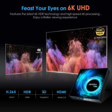 Android 10.0 TV Box, T95 Android TV Box 4GB RAM 32GB ROM Allwinner H616 Quad-core 64bit