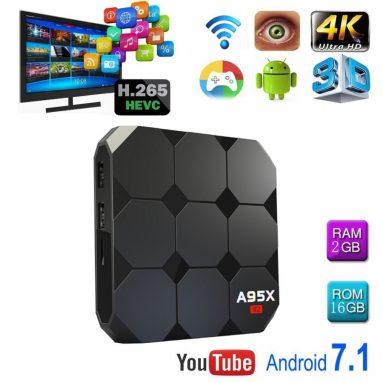 Android 7.1 R2 TV Box amlogic Quad Core 64 Bit 2 GB Ram 16 GB ROM 4K UHD WiFi & LAN