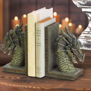Antique Bookends Dragon