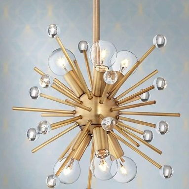 Antique Gold Mini Sputnik Pendant Chandelier