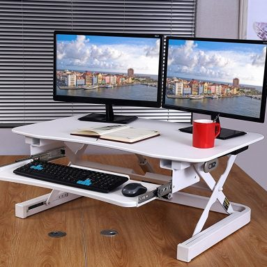ApexDesk ZT Series Height Adjustable Sit to Stand Electric Desk Converter