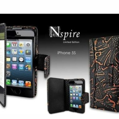 Apple iPhone 5 / 5S Piel Frama Black Nspire Leather Wallet