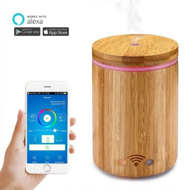 Cool Mist Humidifier Aroma Essential Oil Diffuser Work with Alexa and APP Remote Control