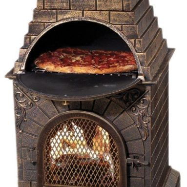 Aztec Allure Cast Iron Pizza Oven Chiminea