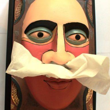Aztec Face Tissue Box Cover