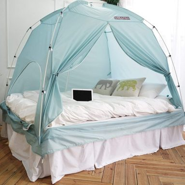 BESTEN Floorless Indoor Privacy Tent on Bed for Warm and Cozy Sleep