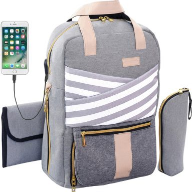 Backpack Slonser Large Designer Multi-Function Maternity Nappy Tote Bag Organizer
